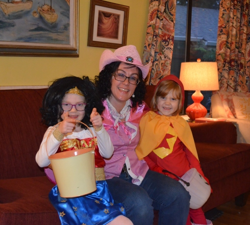 Wonder Woman, Pink Cow Girl AKA Pinkie, & Word Girl Photo taken by Micah Sheller